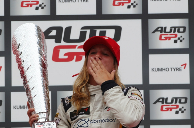 Storica prima vittoria di Michela Cerruti in Auto GP a Imola