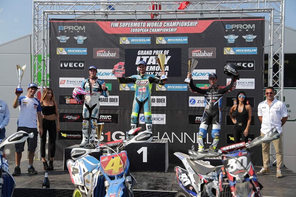 Thomas Chareyre vince il GP d'Italia Supermoto