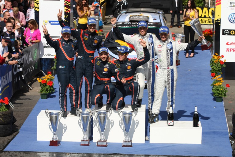 WRC – In Germania storica doppietta Hyundai