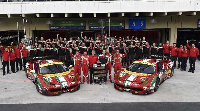 Ferrari conquista il titolo costruttori GT