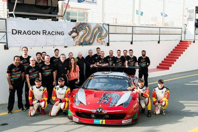 24 Ore di Dubai – Dalla Ferrari 458 Italia del Dragon Racing la prima vittoria del 2015