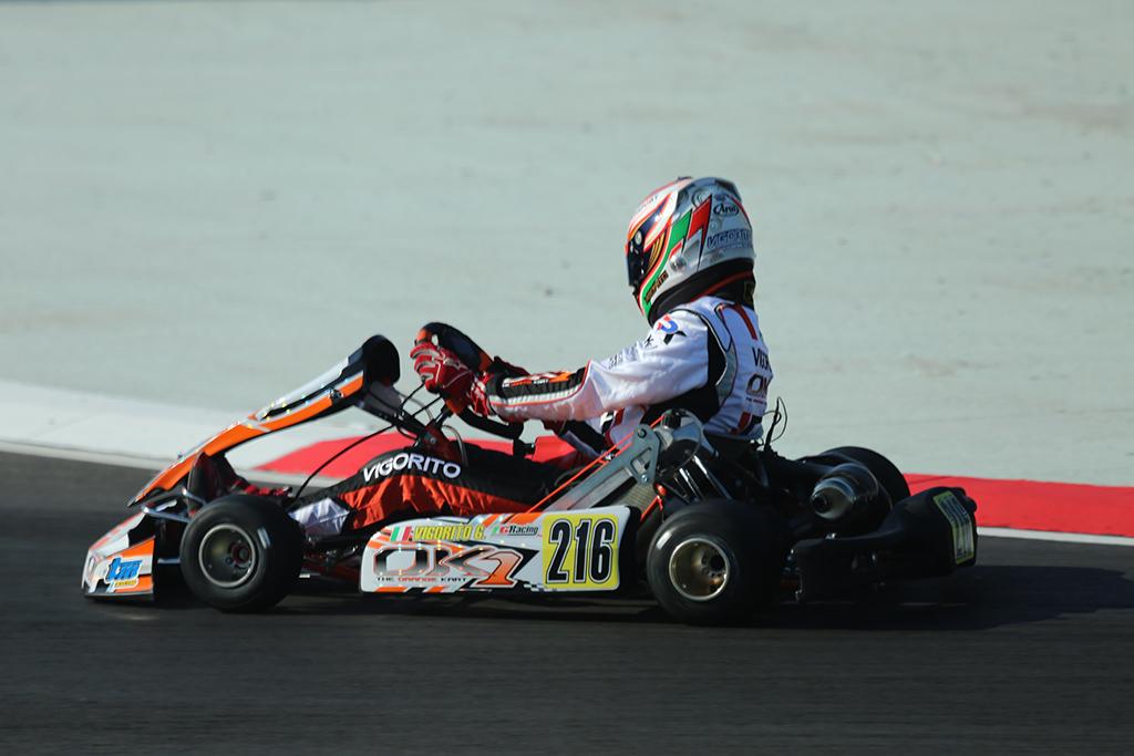 Kart – Grande rimonta per Gianni Vigorito ad Adria nella WSK Super Master Series