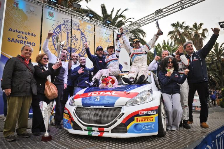 CIR – A Sanremo trionfo di Andreucci e Peugeot