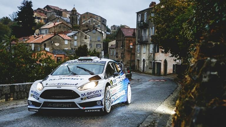 WRC – Al Tour de Corse dopo 3 ps Evans fa la differenza sotto la pioggia