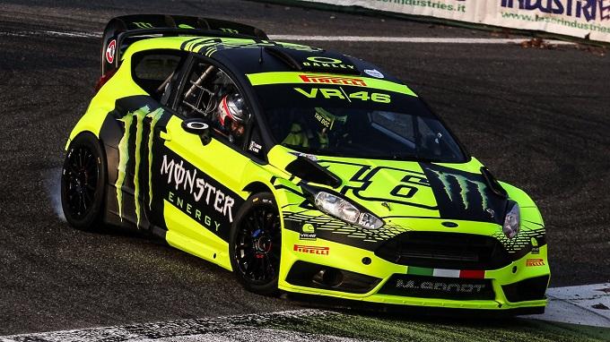 Monza Rally Show, Valentino Rossi prova il tracciato