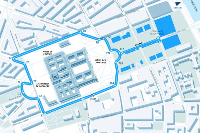 Formula E: Svelato il Circuito di Parigi che si Snoderà attorno al Complesso di Les Invalides