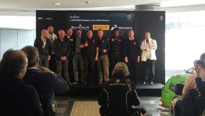 Lamborghini Squadra Corse presenta la stagione 2016