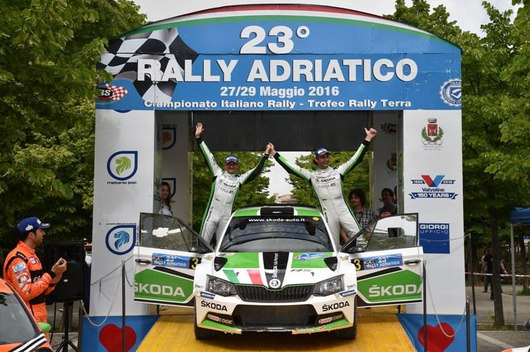 CIR – Scandola e la Skoda vincono il Rally dell'Adriatico