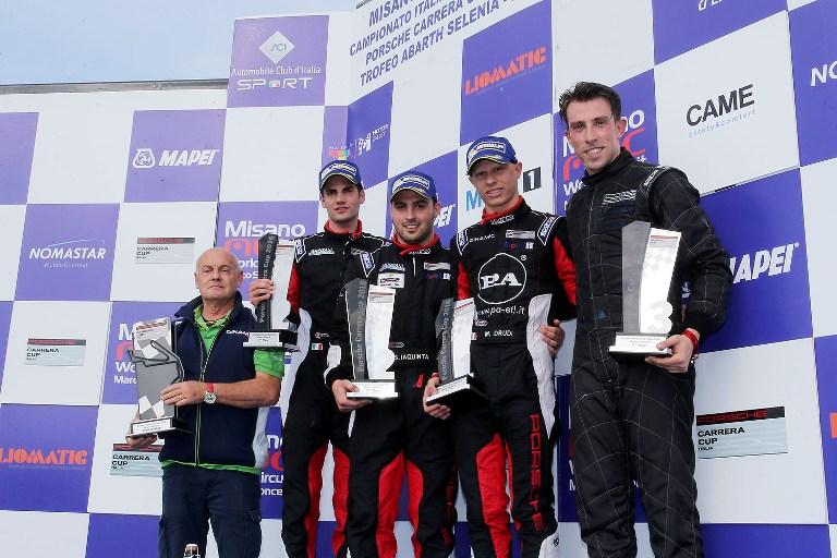 Porsche Carrera Cup Italia: Tripletta di Drudi a Misano