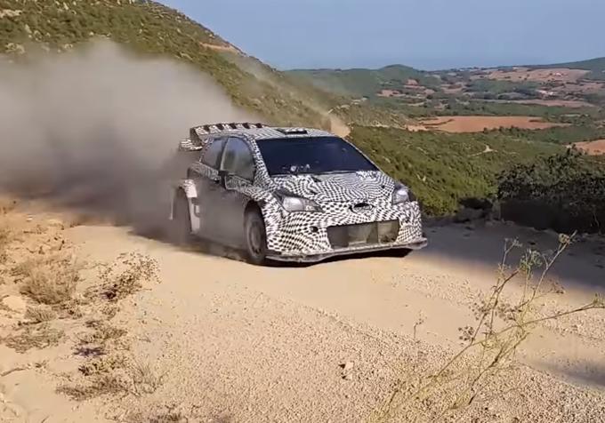 WRC – Nuova configurazione aerodinamica per la Toyota Yaris WRC 2017 durante i test in Spagna