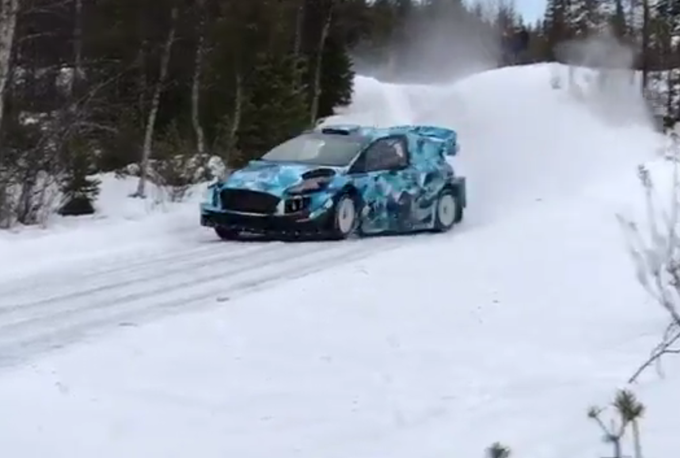 WRC – Ogier tra le nevi svedesi con la Ford Fiesta di M-Sport [VIDEO]