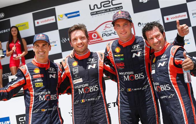 WRC – Rally del Portogallo, Hyundai: secondo e terzo posto per Neuville e Sordo