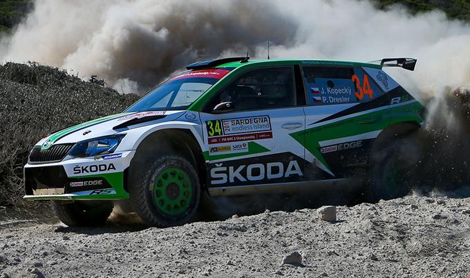 WRC2 – Rally Italia Sardegna, Škoda: settimo sigillo stagionale per la Fabia R5 ufficiale