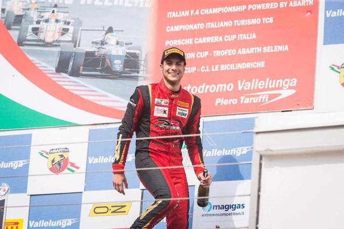 F4 Abarth | Aldo Festante sul podio a Vallelunga