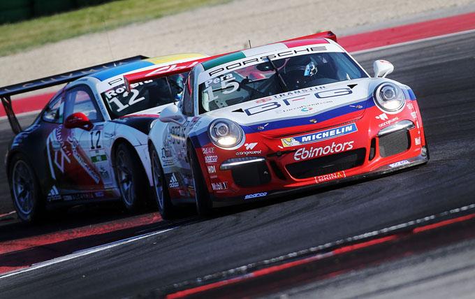 Porsche Carrera Cup Italia – Misano, gara-1: secondo successo stagionale per Pera