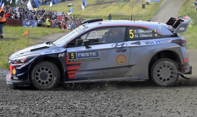 WRC – Rally di Finlandia, Hyundai: cambio al vertice in classifica, Neuville è il nuovo leader