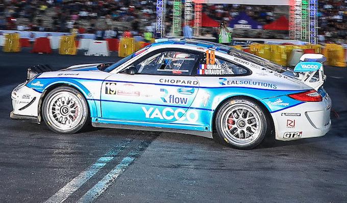 Romain Dumas al via della terza edizione della Coppa del Mondo FIA GT