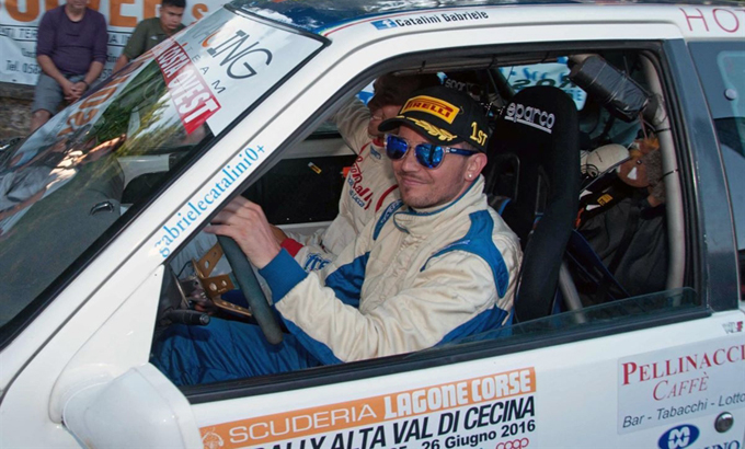 Gabriele Catalini vince il Premio Rally Automobile Club Lucca