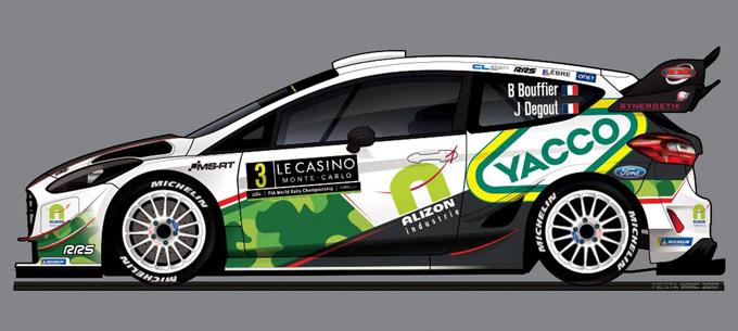 WRC – Ecco la livrea della Fiesta Plus di Bryan Bouffier