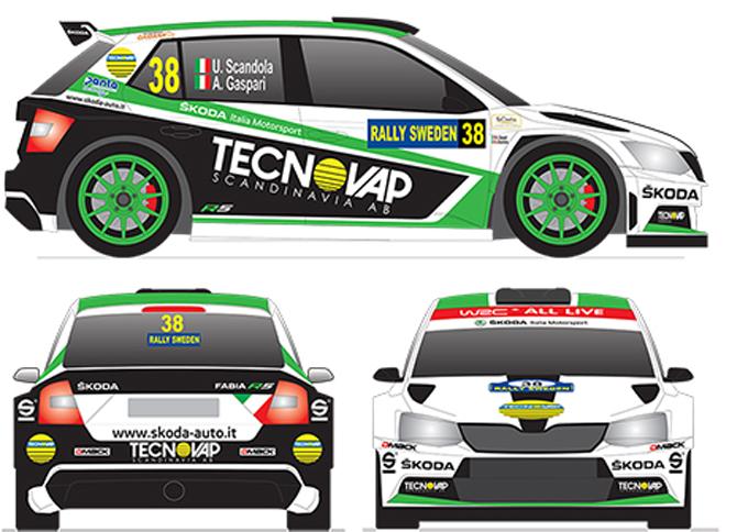 WRC2 – Svelati i colori della Skoda Fabia R5 di Scandola per il Rally di Svezia