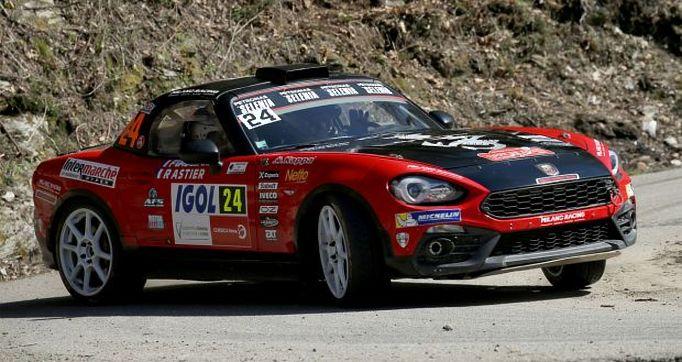 WRC   Le Abarth 124 Rally dominano la classifica R-GT al Rally di Corsica
