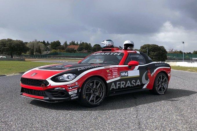 Weekend ricco per l'Abarth 124 Rally, dalla strada sino alla pista