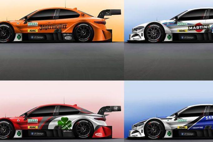 Alfa Romeo Giulia DTM: LP Design interpreta le livree dei team
