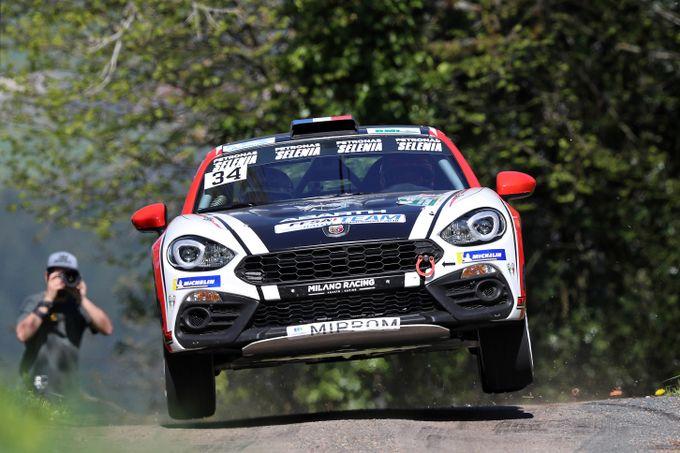 Due vittorie per l'Abarth 124 Rally: Ciamin trionfa in Francia, Nucita in Slovenia