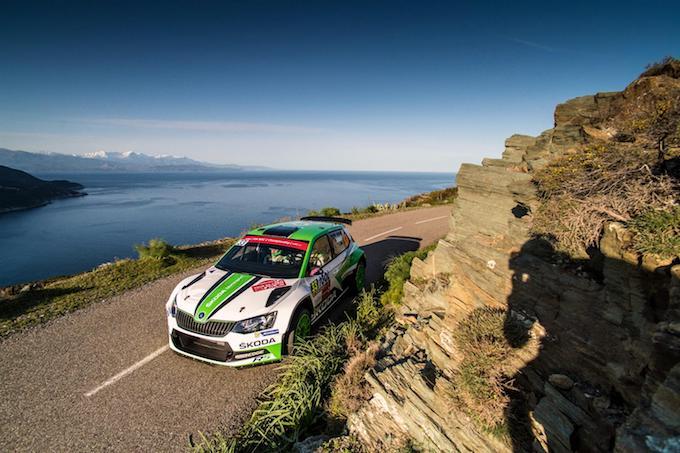 WRC2 | Skoda conquista il quarto podio consecutivo in Corsica