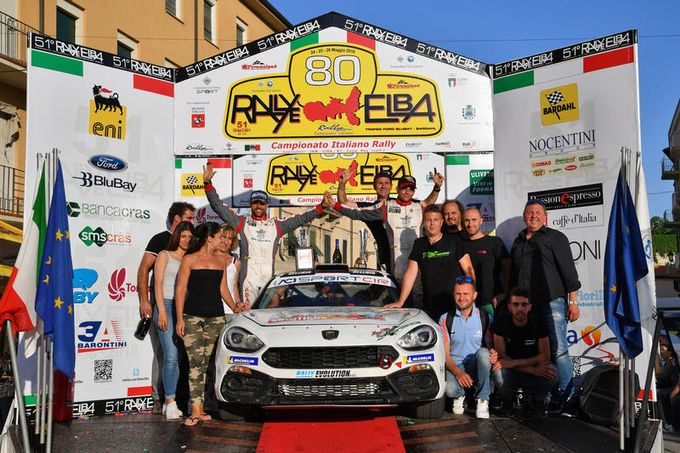 Abarth | La 124 Rally inarrestabile in Romania e al Rallye Elba