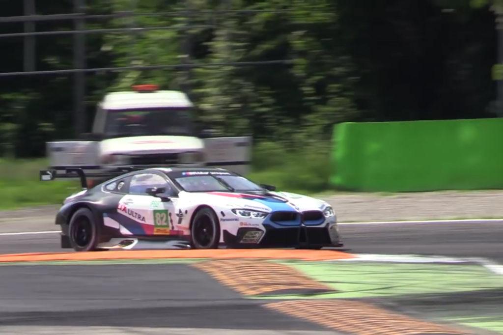 La nuova BMW M8 GTE in azione a Monza prima di Le Mans [VIDEO]