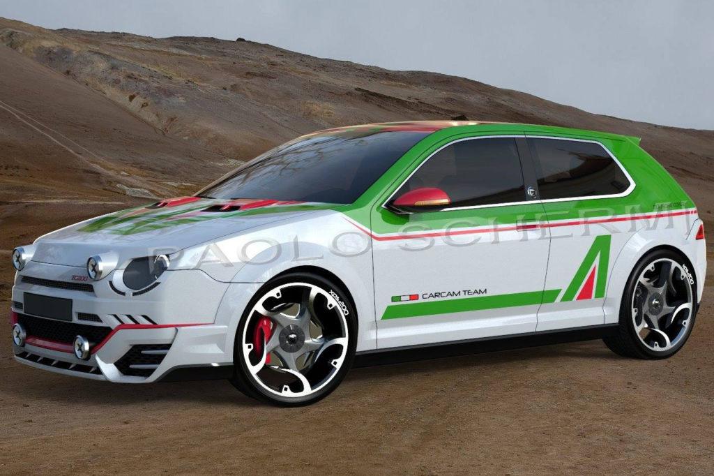 Fiat Ritmo: la livrea Alitalia colora la sua rivisitazione moderna [RENDERING]