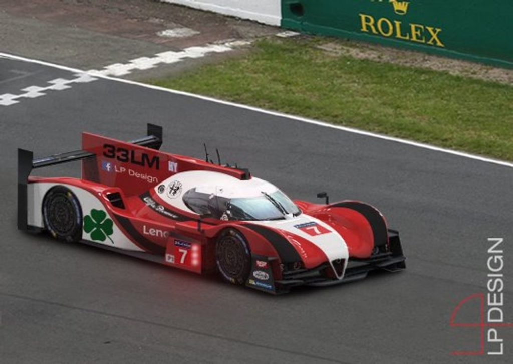 Alfa Romeo 33LMP1, il render di LP Design che riporta la vettura nell'endurance