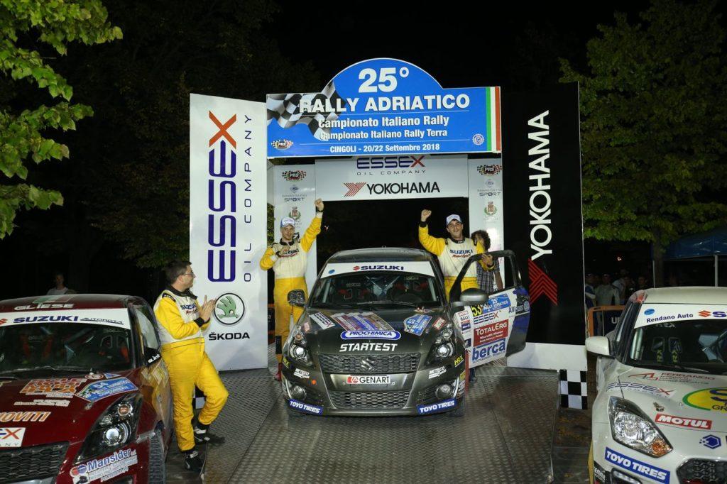 Suzuki Rally Trophy | Al Rally Adriatico trionfa Cogni: il titolo di campione 2018 è ormai cosa fatta