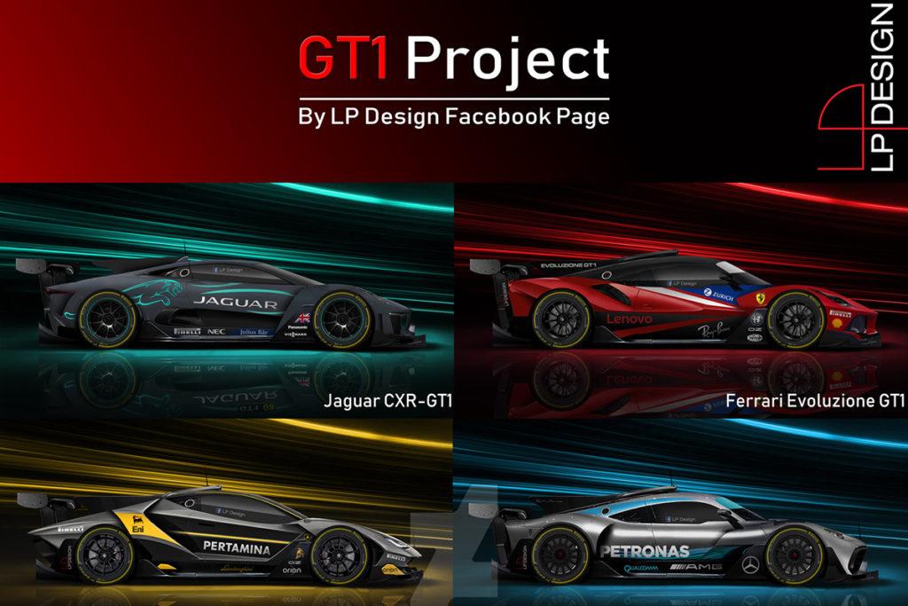 GT1 Project, le Gran Turismo sognate da LP Design per Le Mans [RENDERING]