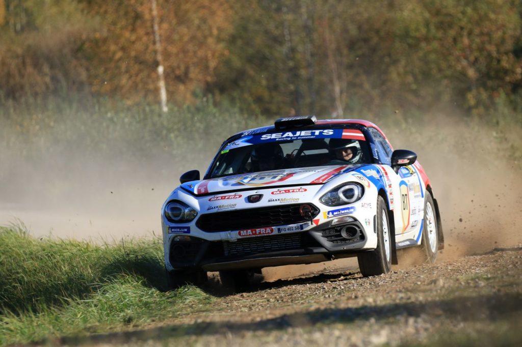Simone Tempestini campione europeo nell'Abarth 124 Rally Selenia International Challenge