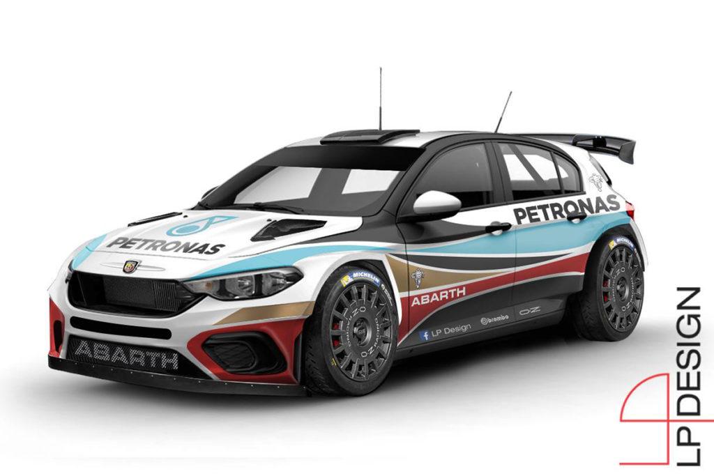 Abarth Tipo R5, il sogno di LP Design per il WRC2 e l'ERC [RENDERING]