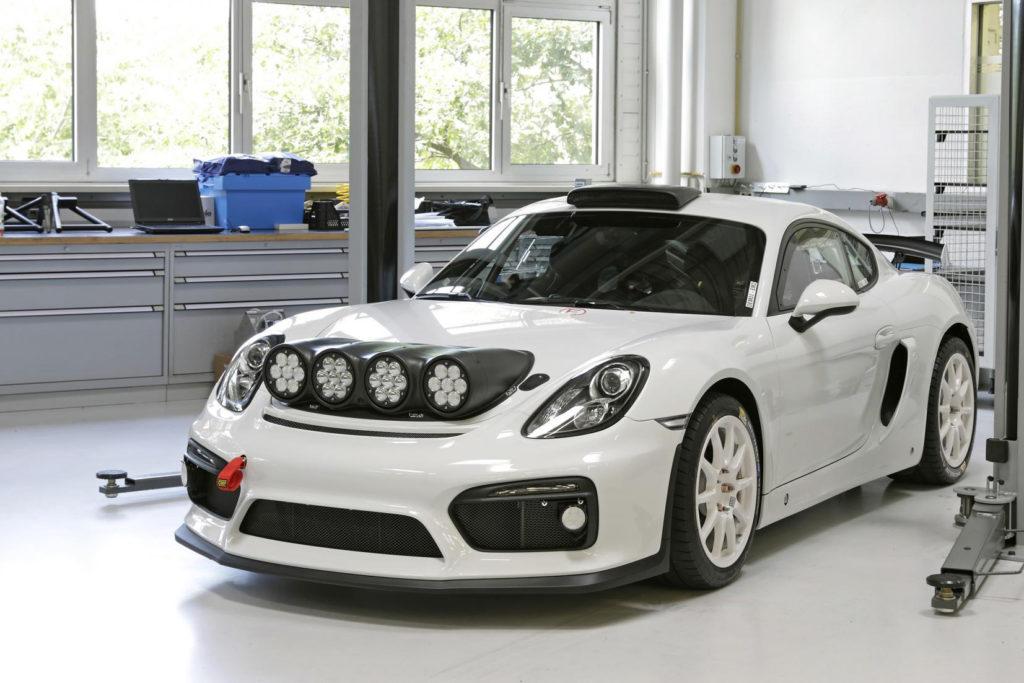 Porsche Cayman GT4 Clubsport Rally in attesa di essere prodotta in serie