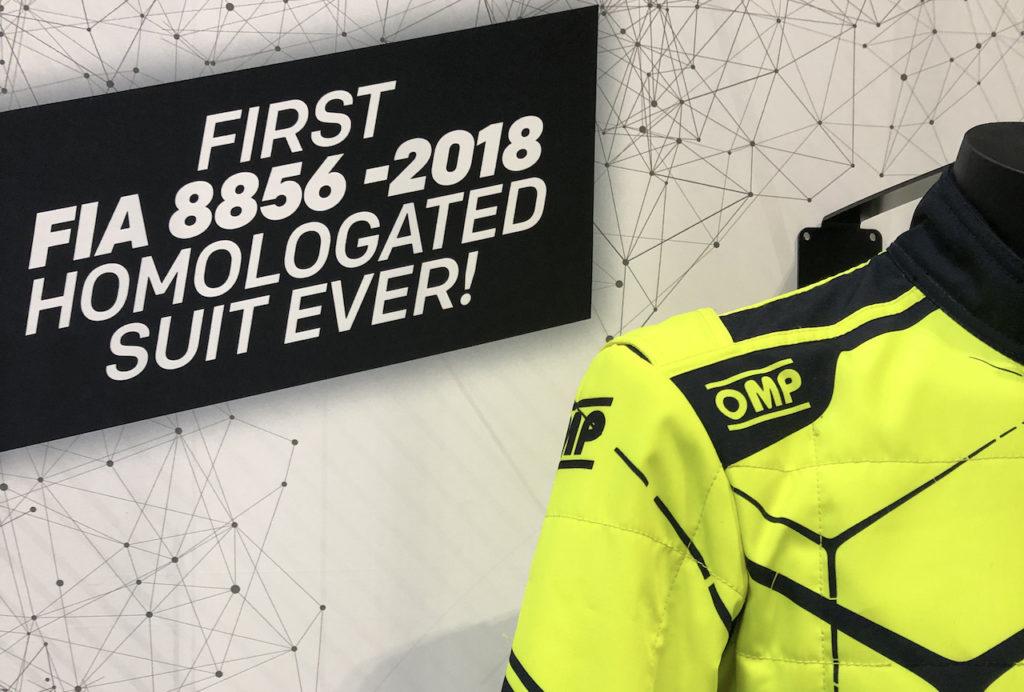 OMP da primato con la nuova tuta omologata FIA 2019