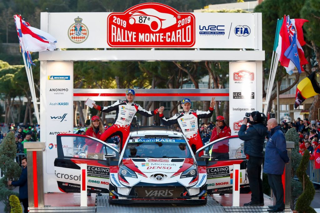 WRC   Toyota sul podio del Rallye Monte Carlo con Tanak, mentre Meeke al suo rientro non sfigura