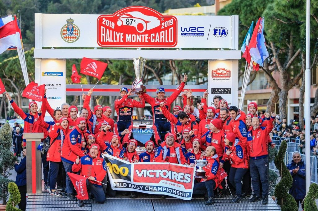 "WRC | Citroen, quota 100 al Rallye Monte Carlo. Ogier: ""Non davamo nulla per scontato"""