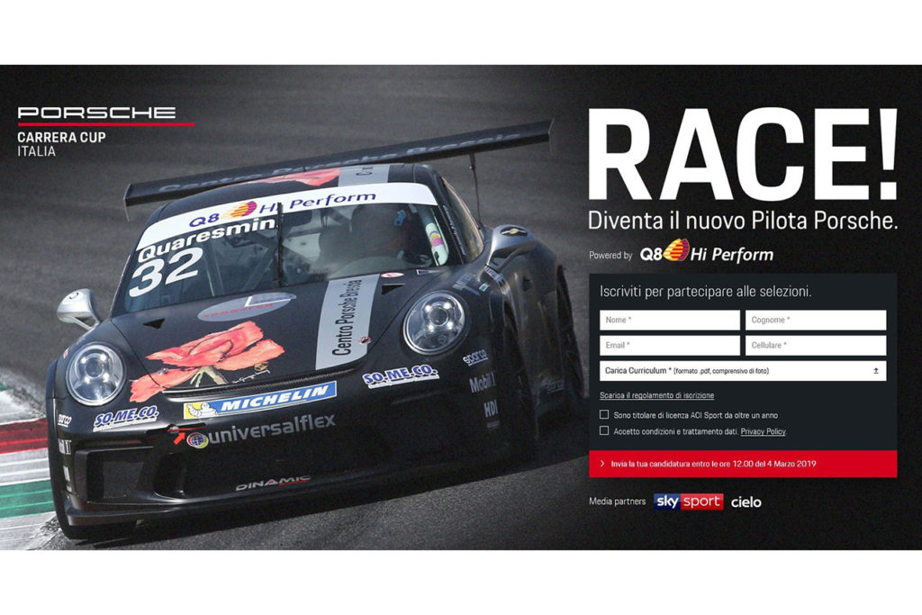Porsche Carrera Cup Italia | Tutte la gare in diretta su Sky, al via un talent per diventare pilota ufficiale Q8 Hi Perform
