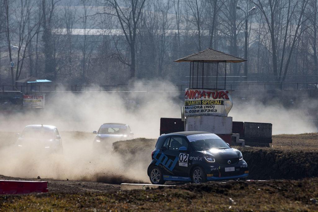 smart EQ fortwo e-cup | Grandi consensi per la versione rallycross, in azione a Maggiora