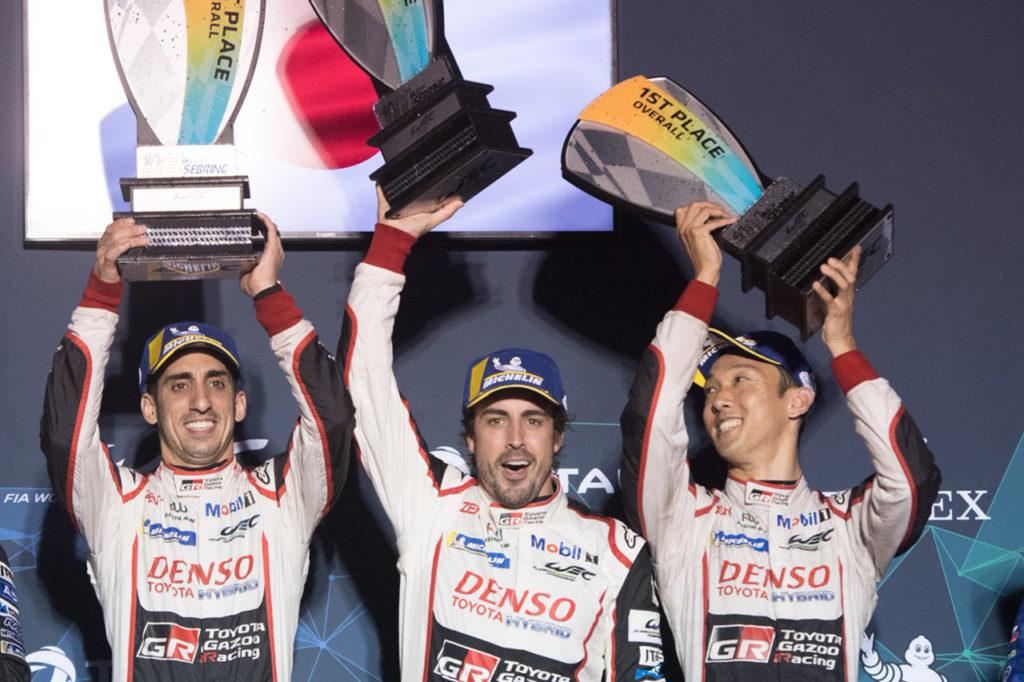 FIA WEC | 1000 Miglia di Sebring, Gara: la Toyota di Alonso/Buemi/Nakajima si conferma in vetta
