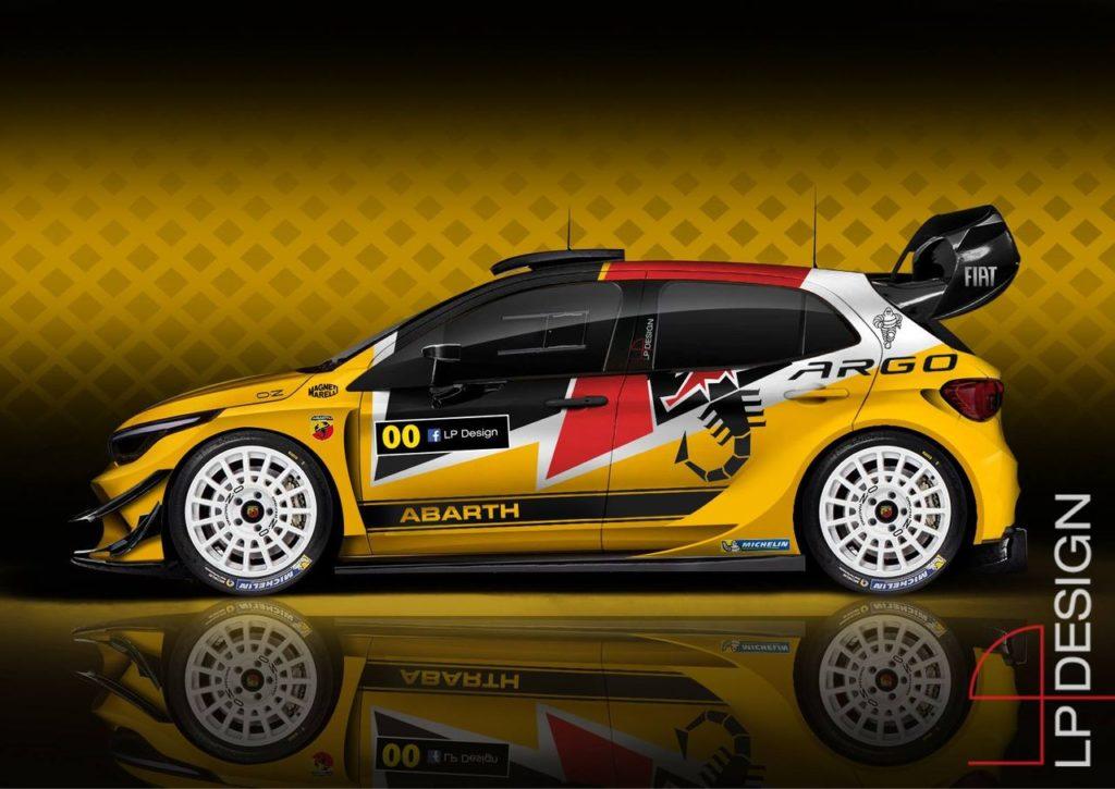 Fiat Argo Abarth WRC, la nuova creazione di LP Design [RENDERING]