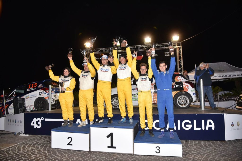 Suzuki Rally Cup | Simone Goldoni domina la tappa nel CIWRC al Rally 1000 Miglia