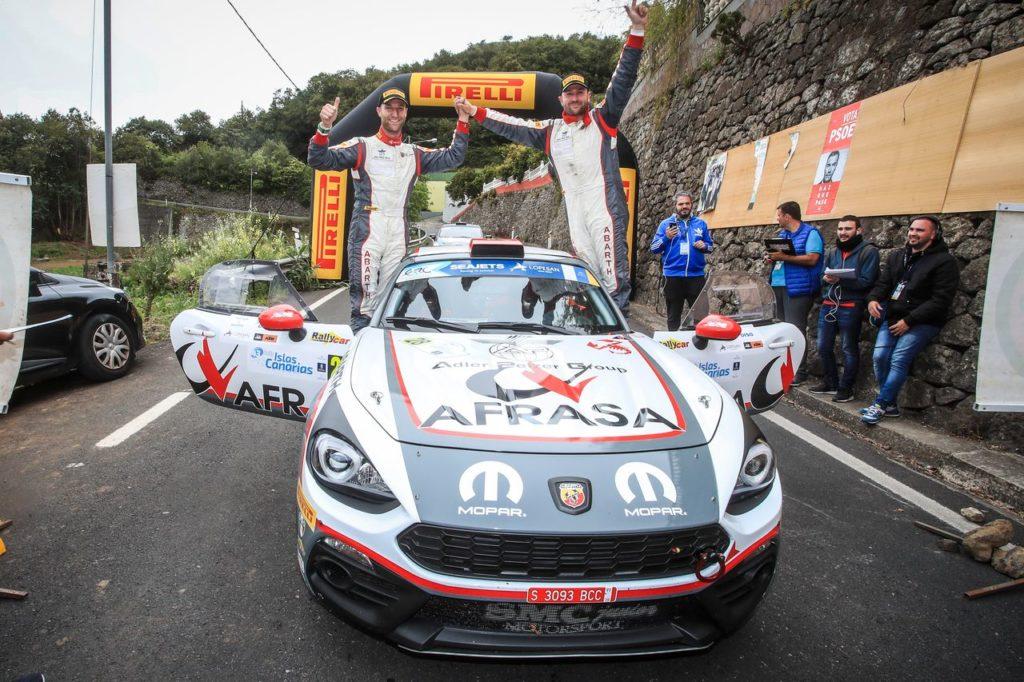 Alberto Monarri protagonista della prima tappa dell'Abarth Rally Cup 2019. Quarto Nucita