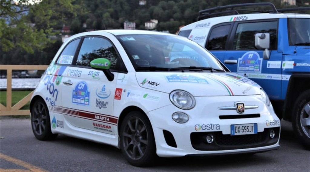 Green Endurance | L'Abarth 500 a biometano di Ventura e Marchisio vince la prima tappa