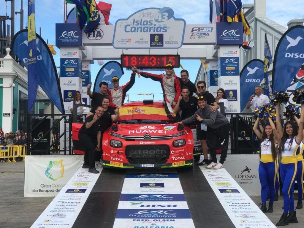 ERC | Pepe Lopez vince il Rally delle Isole Canarie. Altra disfatta per Lukyanuk
