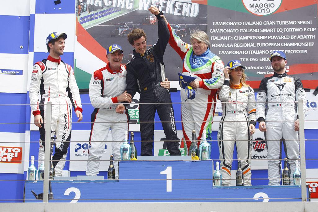 TCR DSG Endurance | Vallelunga, Gara: trionfo bagnato per Dionisio-Barri